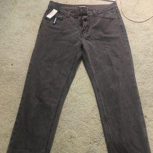 Dark grey reverse distressed jeans(size 12)